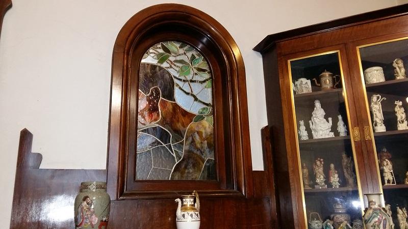 Витраж в кабинете особняка Рябушинских
