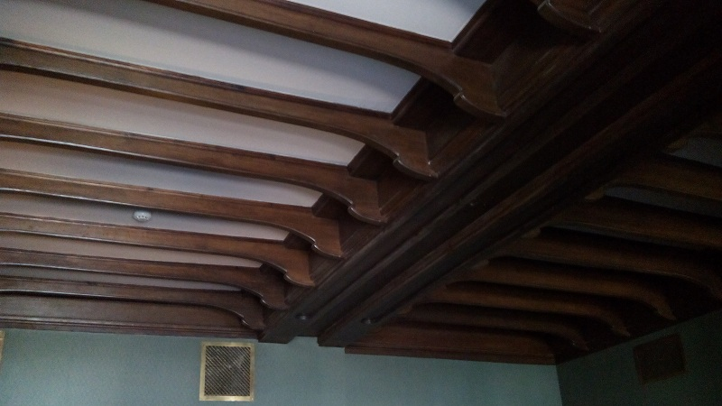 Потолок готического кабинета в особняке Смирнова