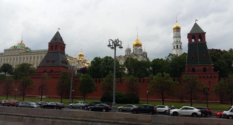 Вид на Кремль с палубы