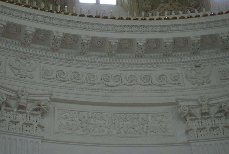 Лепнина Купольного зала Петровского дворца