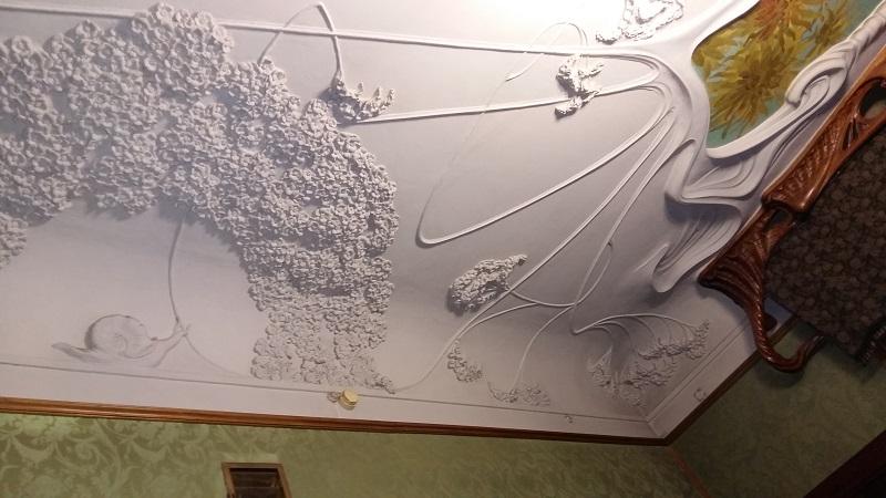 Потолок мужской гостиной особняка Рябушинских