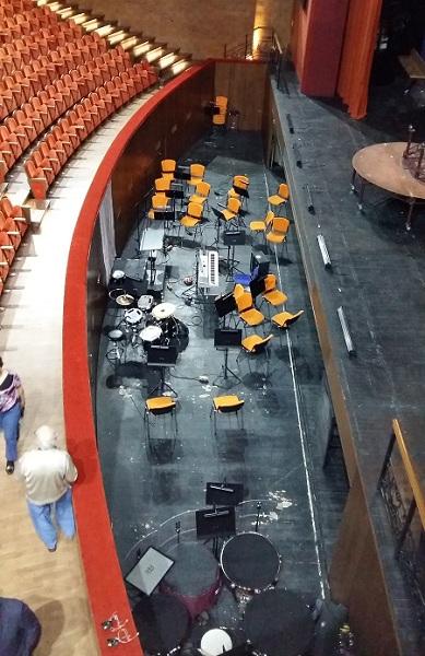 Оркестровая яма зала Стравинский Геликон-оперы