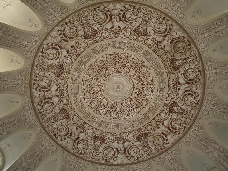 Потлок Купольного зала Петровского дворца