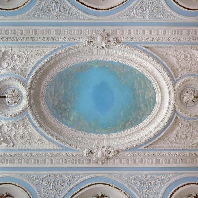 Потолок Большого зала усадьбы Грачева
