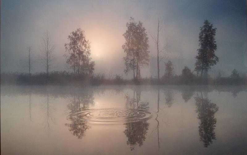 Августовское утро на реке Чусовой, Средний Урал