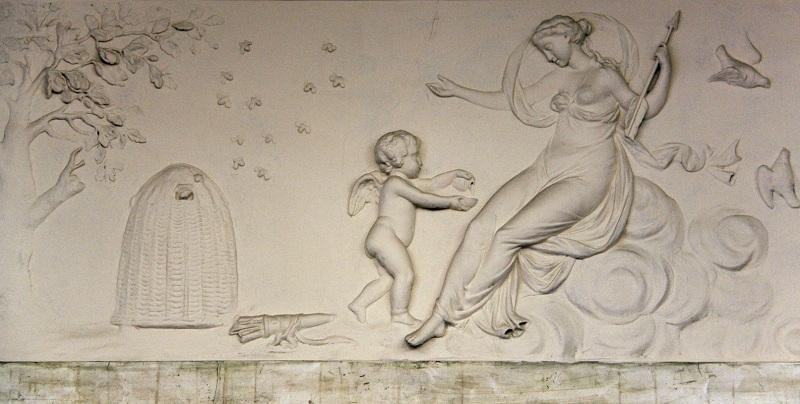 Усадьба Барышникова Барельеф в Розовом зале