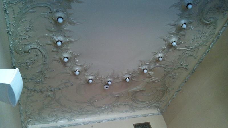 Потолок рокайльной гостиной особняка Смирнова