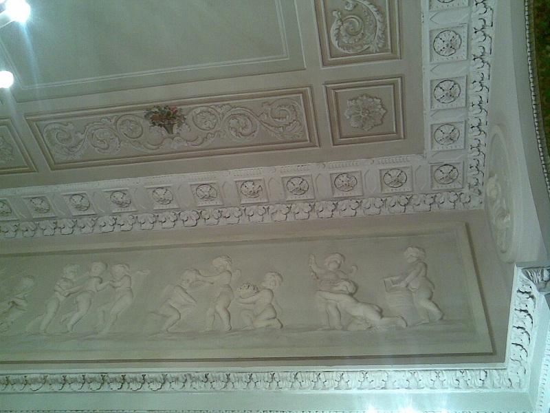 Усадьба Барышникова Спальня Потолок
