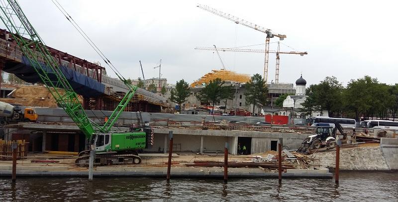 Строительство парка в Зарядье