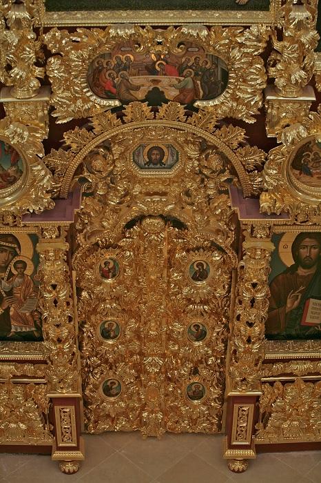 Деталь иконостасаТроицкой церкви в селе Троицком-Лыкове