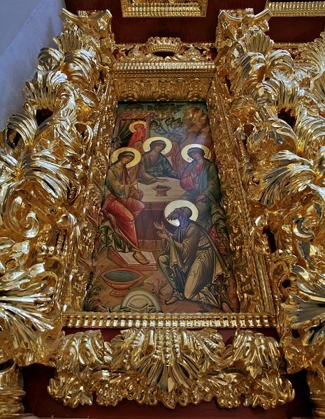 Деталь иконостас Троицкой церкви в селе Троицком-Лыкове