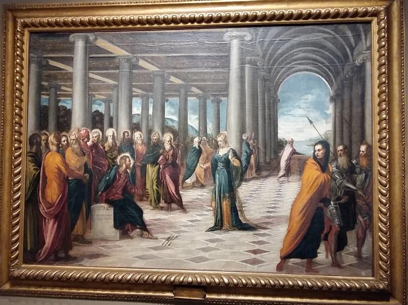 "Якопо Тинторетто ""Христос и грешница"""